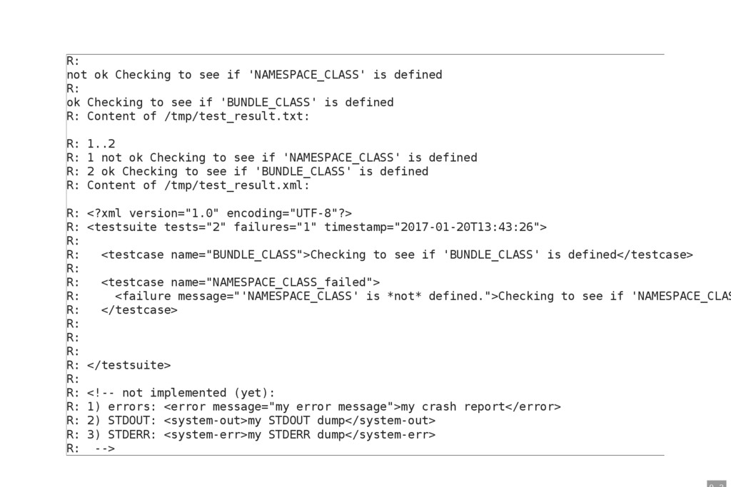 R: not ok Checking to see if 'NAMESPACE_CLASS' ...