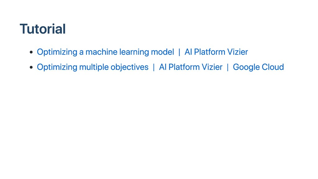 Tutorial Optimizing a machine learning model | ...