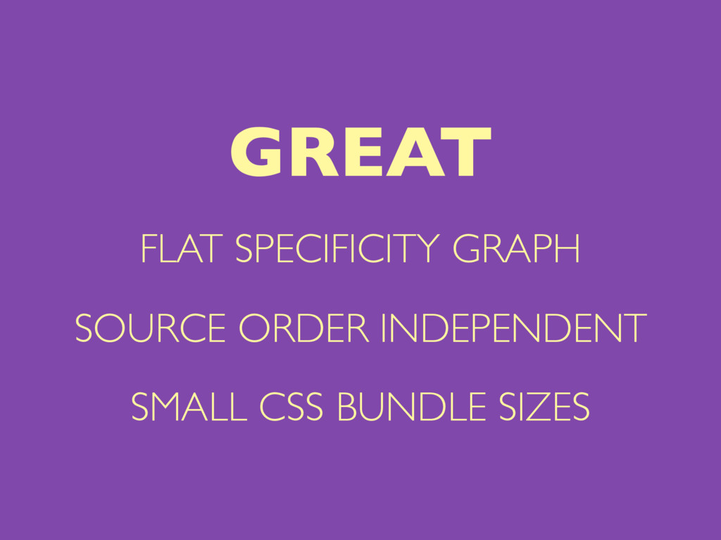 FLAT SPECIFICITY GRAPH SOURCE ORDER INDEPENDENT...