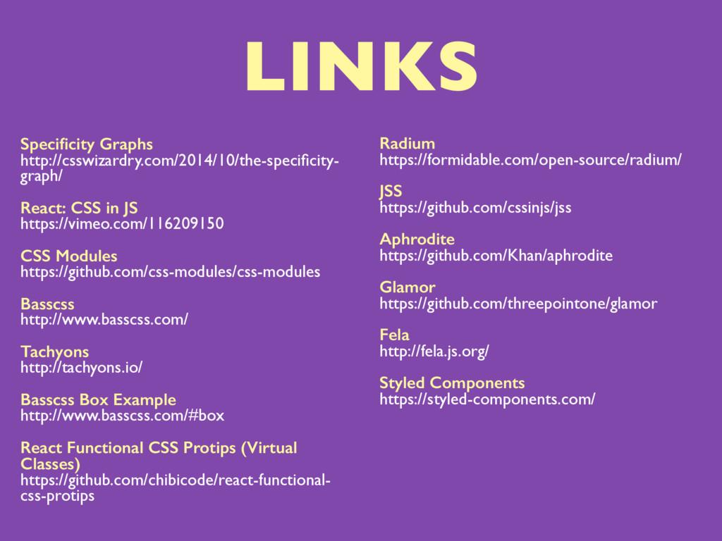 LINKS Specificity Graphs http://csswizardry.com/...