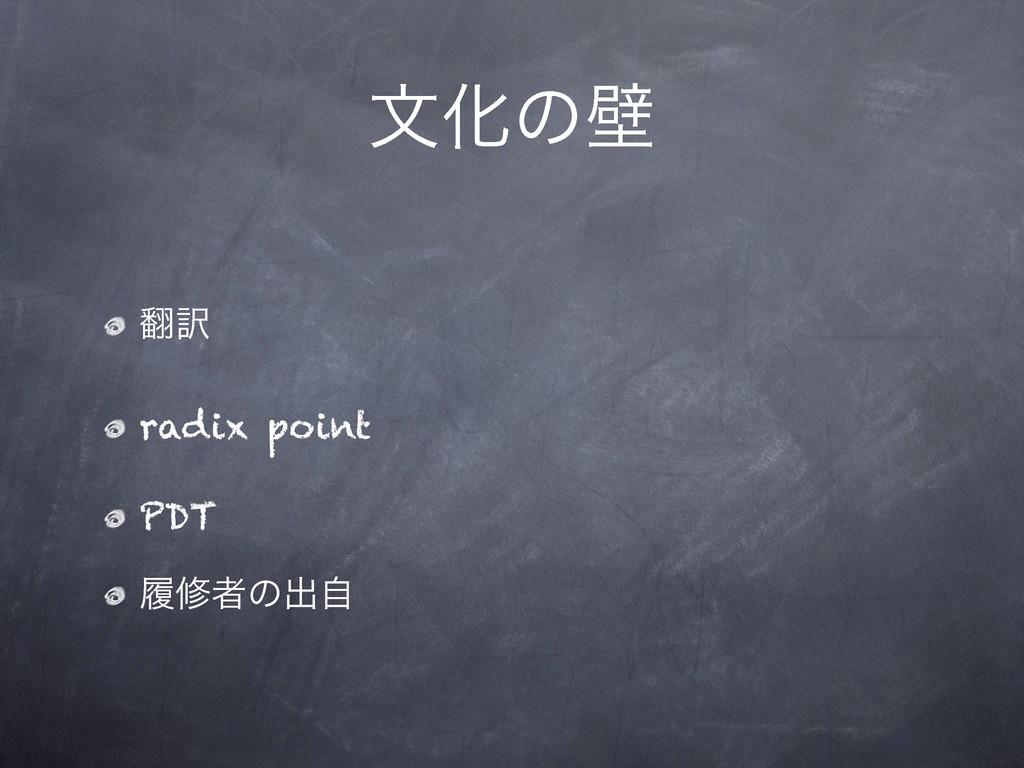 จԽͷน ༁ radix point PDT ཤमऀͷग़ࣗ