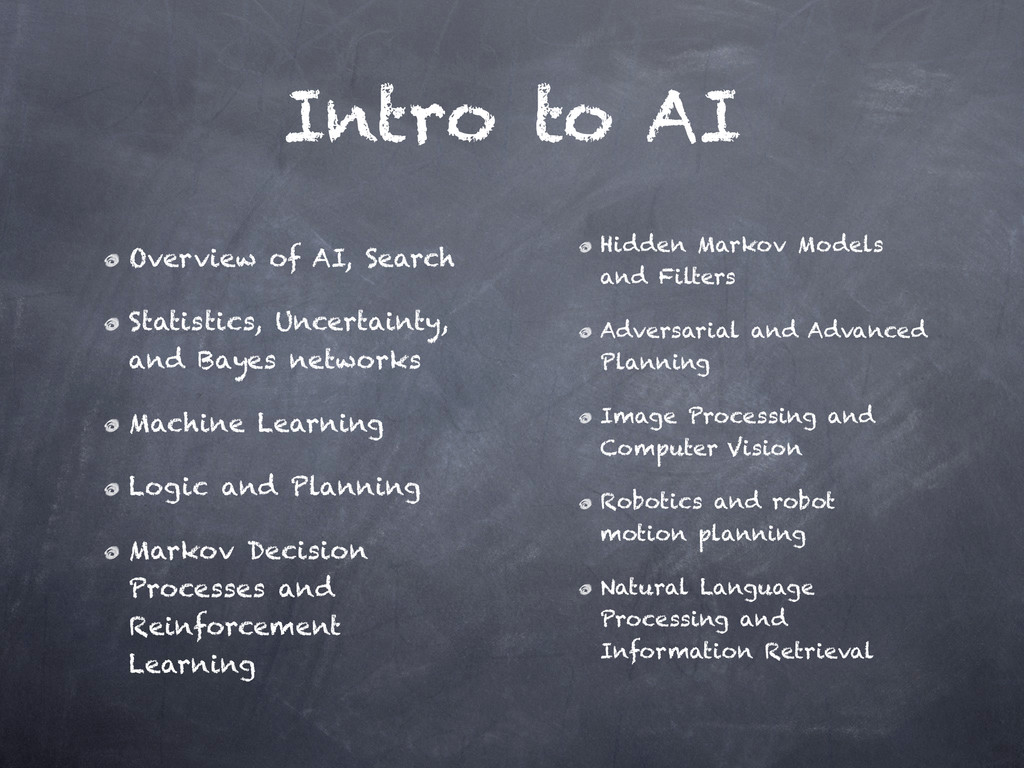 Intro to AI Overview of AI, Search Statistics,...