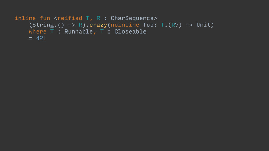 inline fun <reified T, R : CharSequence> (Strin...