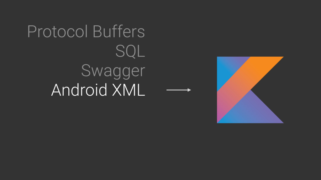 Protocol Buffers SQL Swagger Android XML