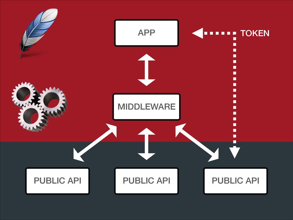 APP PUBLIC API PUBLIC API PUBLIC API MIDDLEWARE...