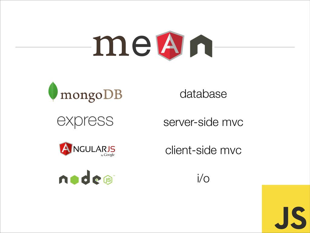 database server-side mvc client-side mvc i/o
