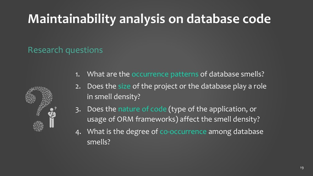 19 1. What are the occurrence patterns of datab...
