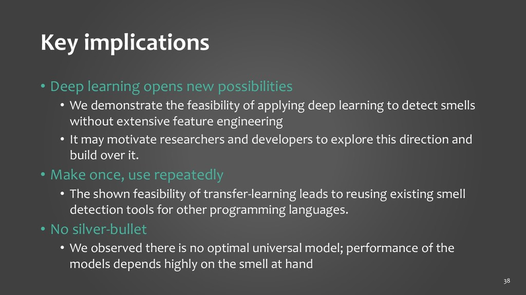 Key implications • Deep learning opens new poss...