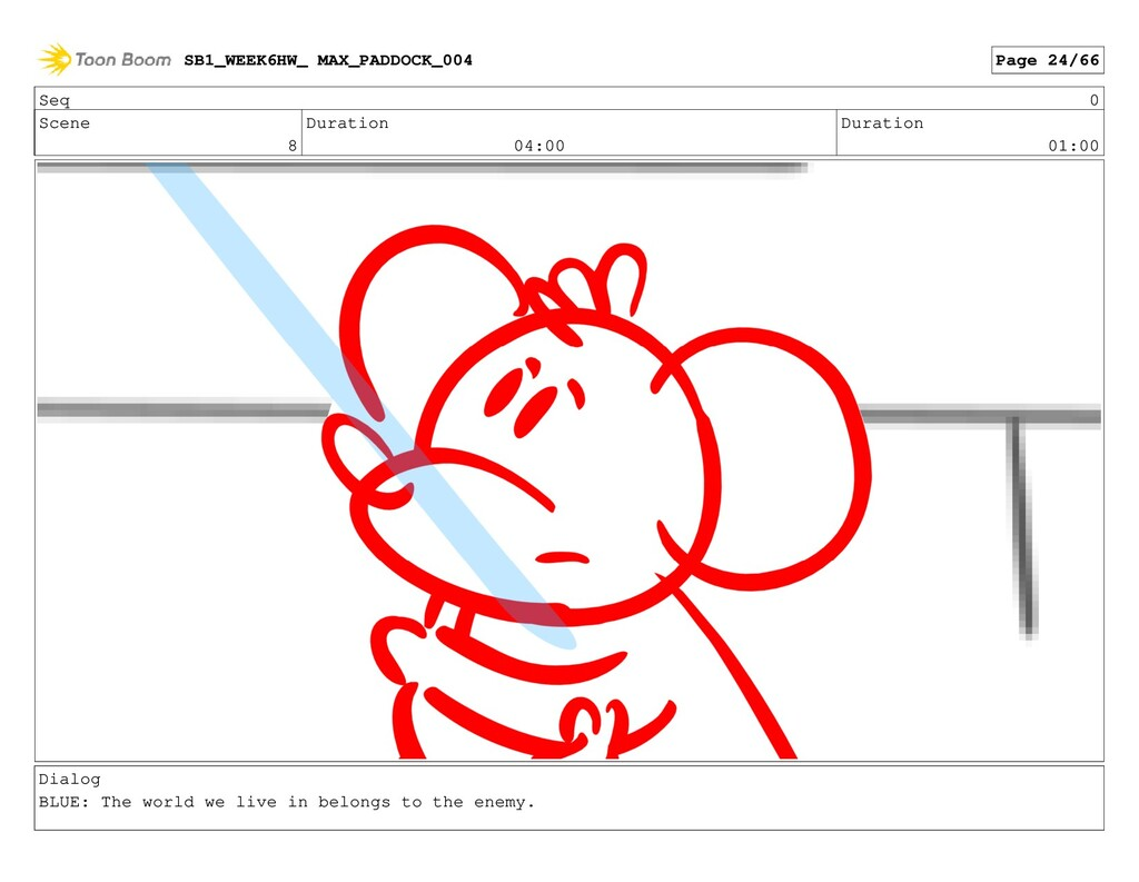 Seq 0 Scene 8 Duration 04:00 Duration 01:00 Dia...