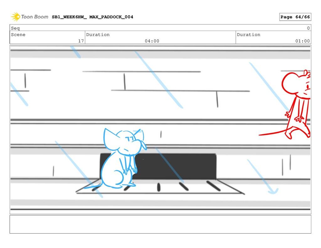 Seq 0 Scene 17 Duration 04:00 Duration 01:00 SB...