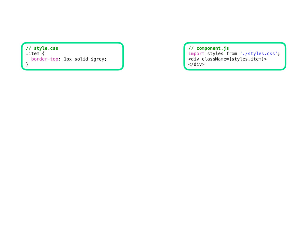 CSS // style.css .item { border-top: 1px solid ...