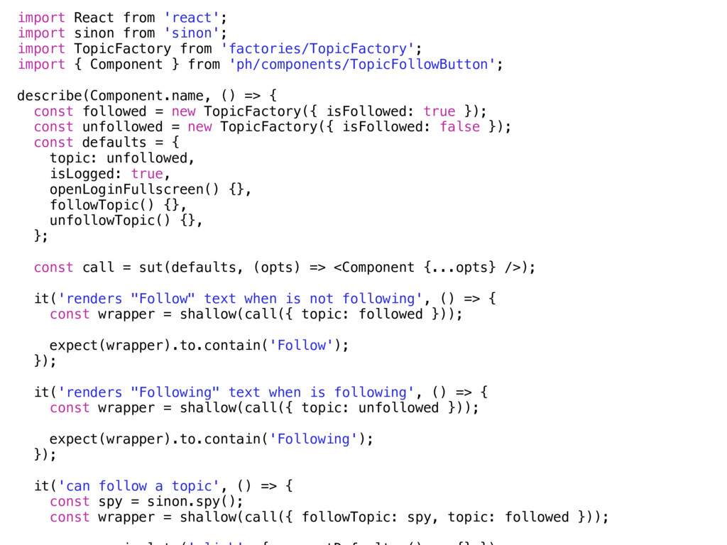 import React from 'react'; import sinon from 's...
