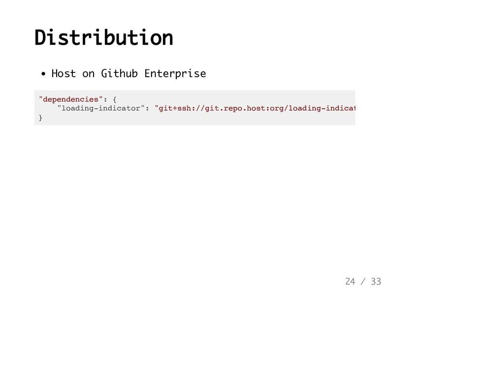 """Distribution Host on Github Enterprise """"depende..."""