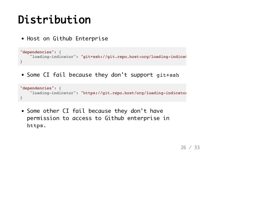 Distribution Host on Github Enterprise Some CI ...