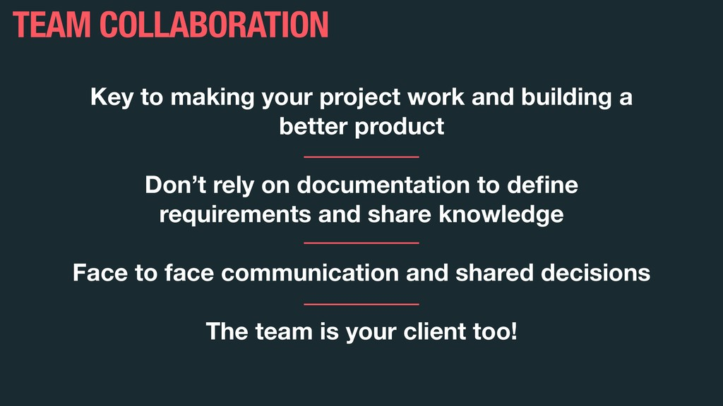 Key to making your project work and building a ...