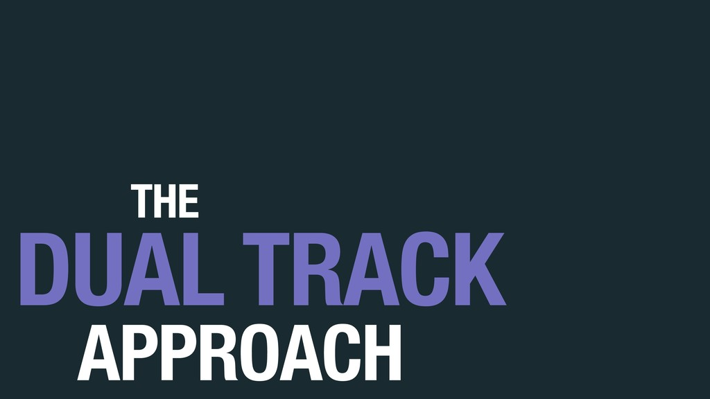 APPROACH DUAL TRACK THE