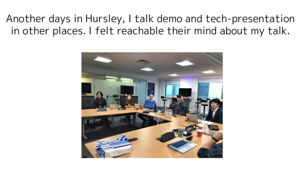 Another days in Hursley, I talk demo and tech-p...