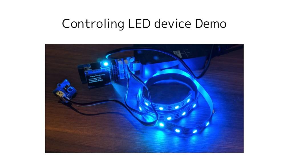 Controling LED device Demo