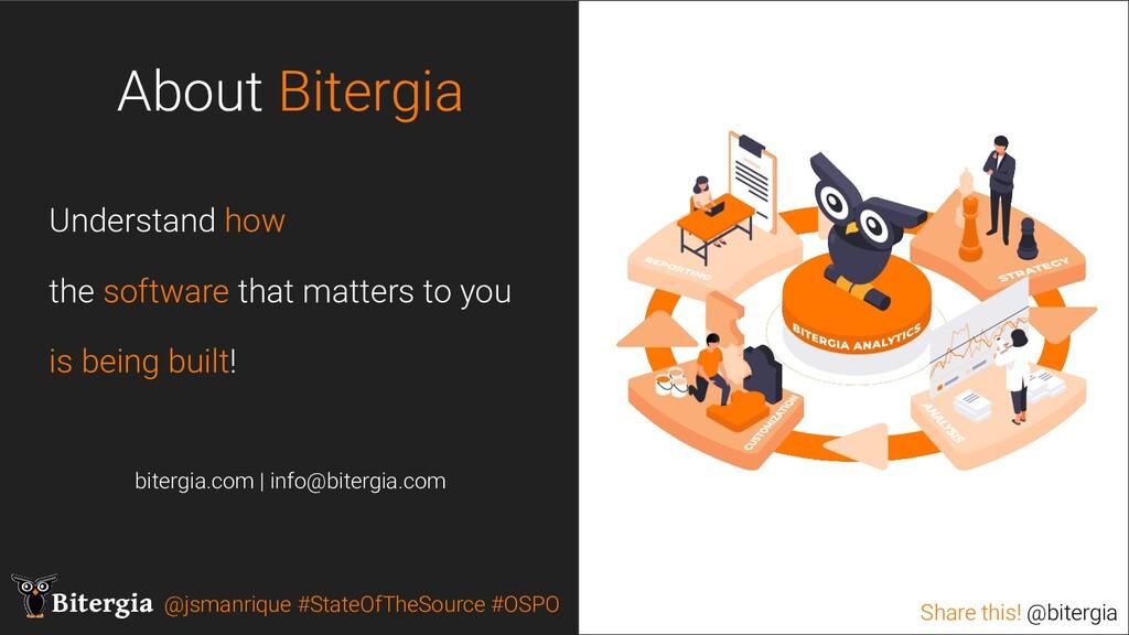 Share this! @bitergia Bitergia @jsmanrique #Sta...