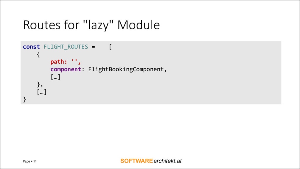 """Routes for """"lazy"""" Module Page ▪ 11 const FLIGHT..."""