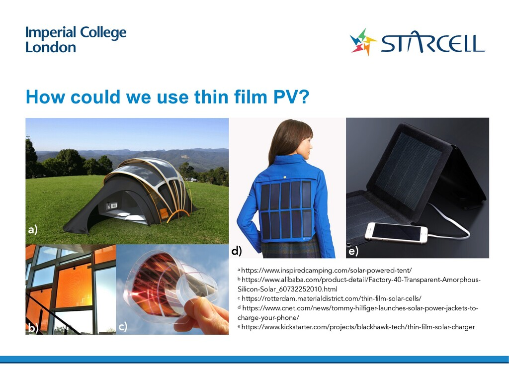 How could we use thin film PV? a https://www.in...