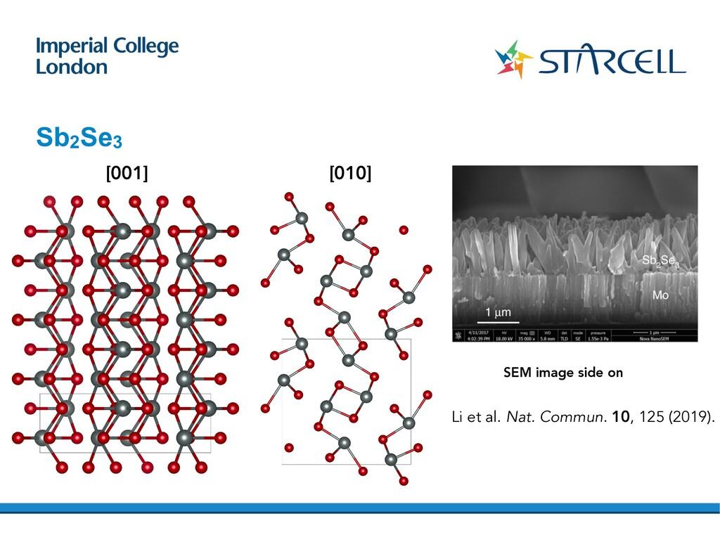 Sb2Se3 [001] [010] Li et al. Nat. Commun. 10, 1...