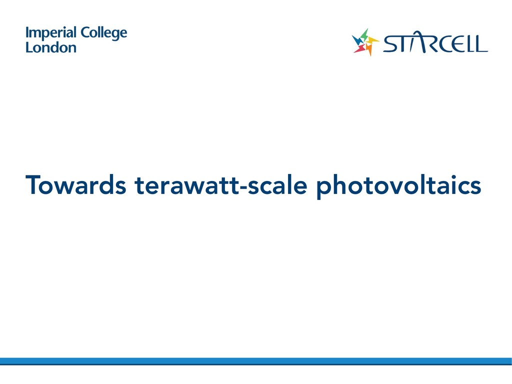 Towards terawatt-scale photovoltaics