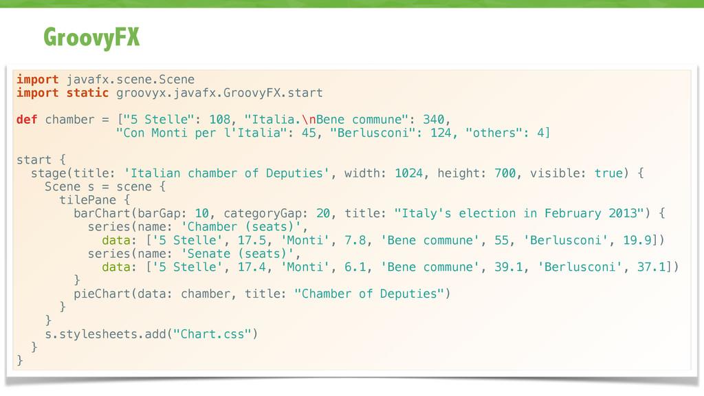 GroovyFX 63 import javafx.scene.Scene import st...