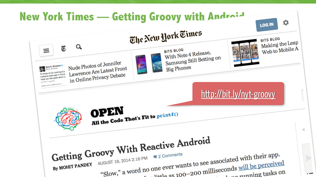 New York Times — Getting Groovy with Android 67...
