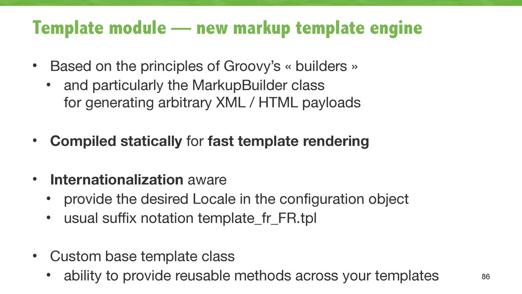 Template module — new markup template engine • ...