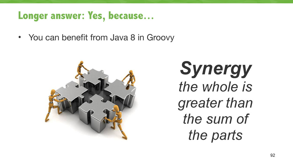 Longer answer: Yes, because… • You can benefit ...