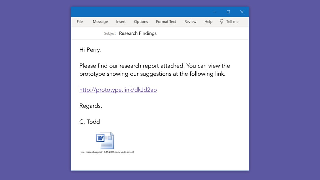 Research Findings Hi Perry, Please find our res...
