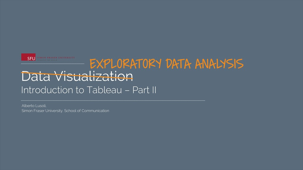 Data Visualization Introduction to Tableau – Pa...