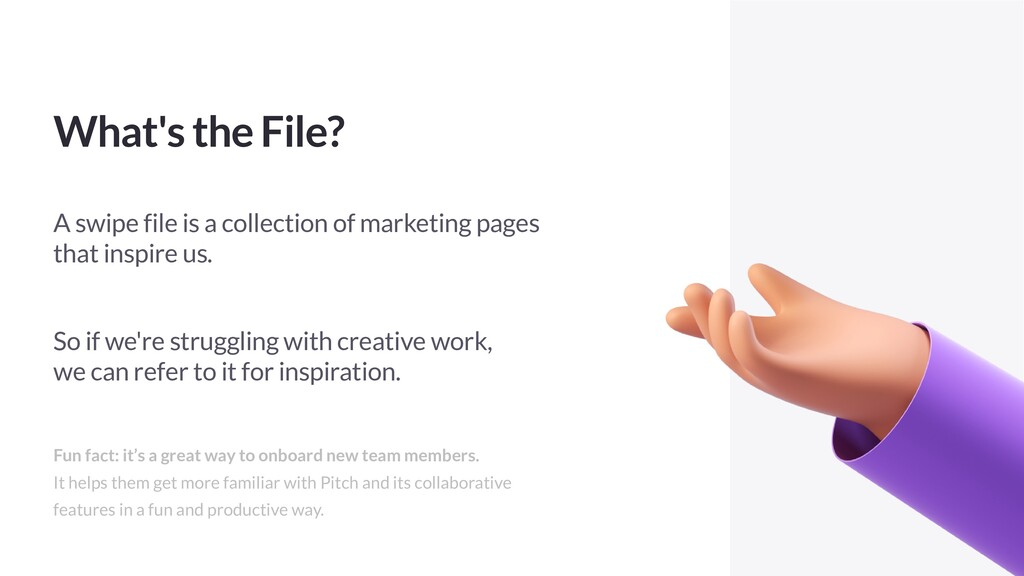What's the File? A swipe file is a collection o...