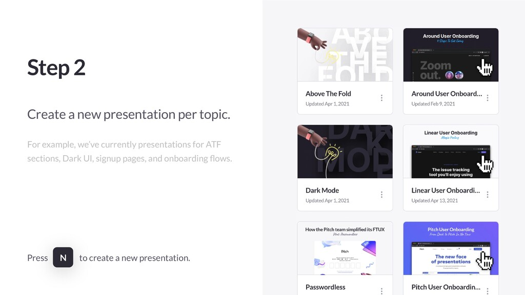 Step 2 Create a new presentation per topic. For...