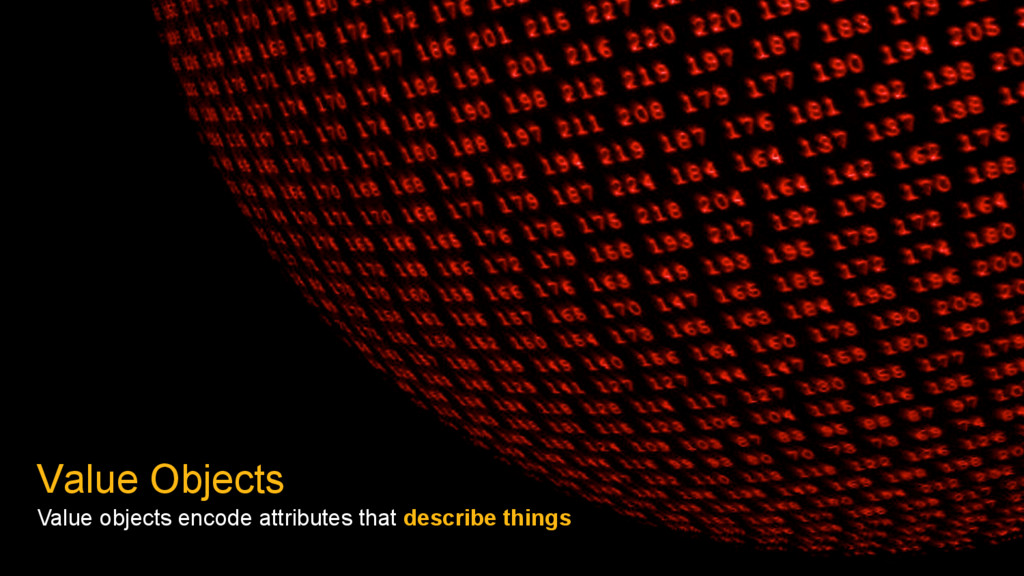 Value Objects Value objects encode attributes t...