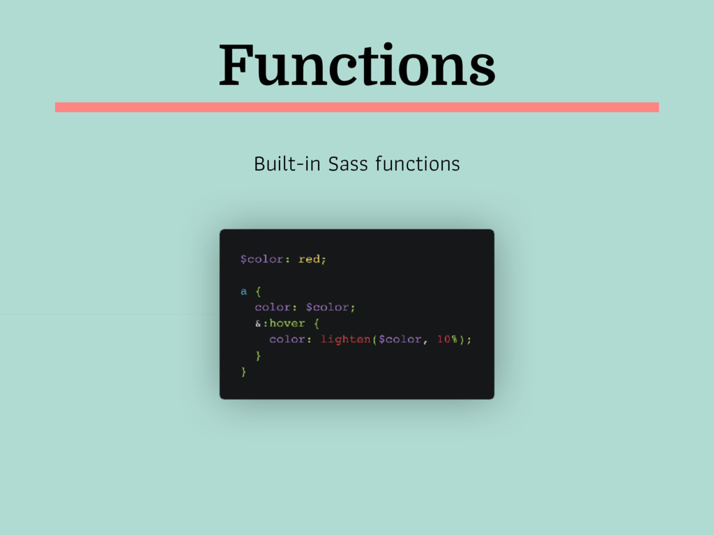 Functions Built-in Sass functions