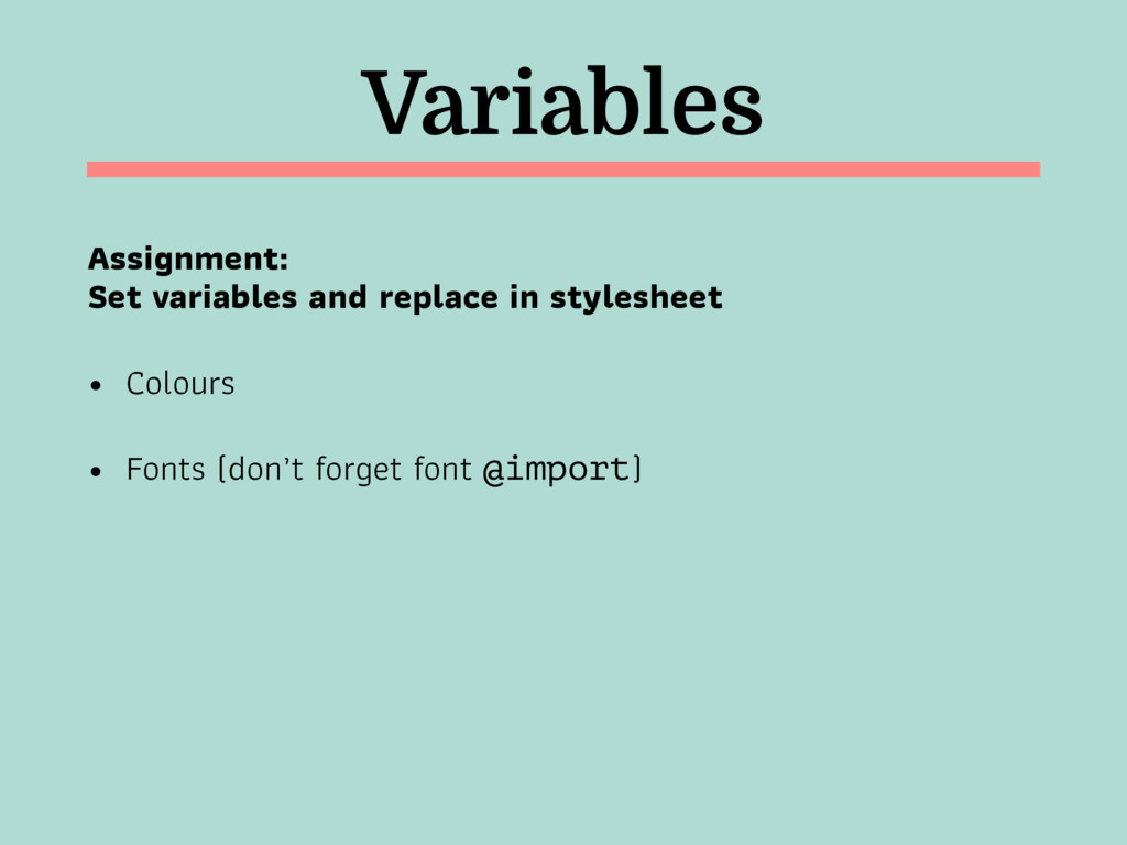 Variables Assignment: 