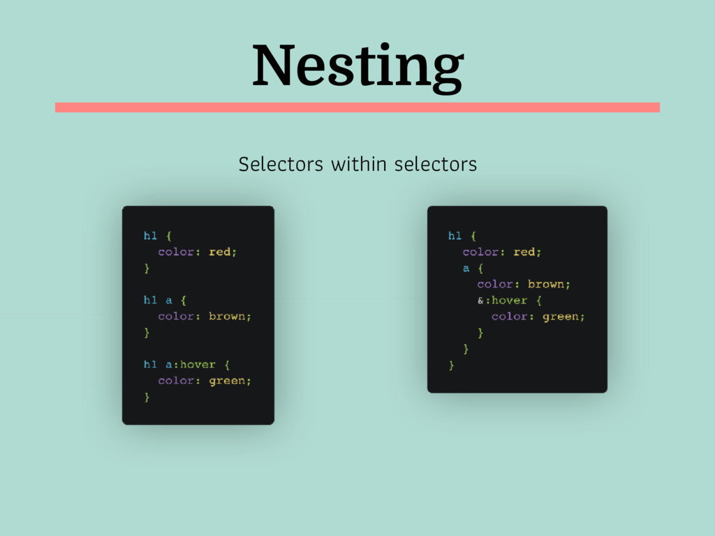 Nesting Selectors within selectors