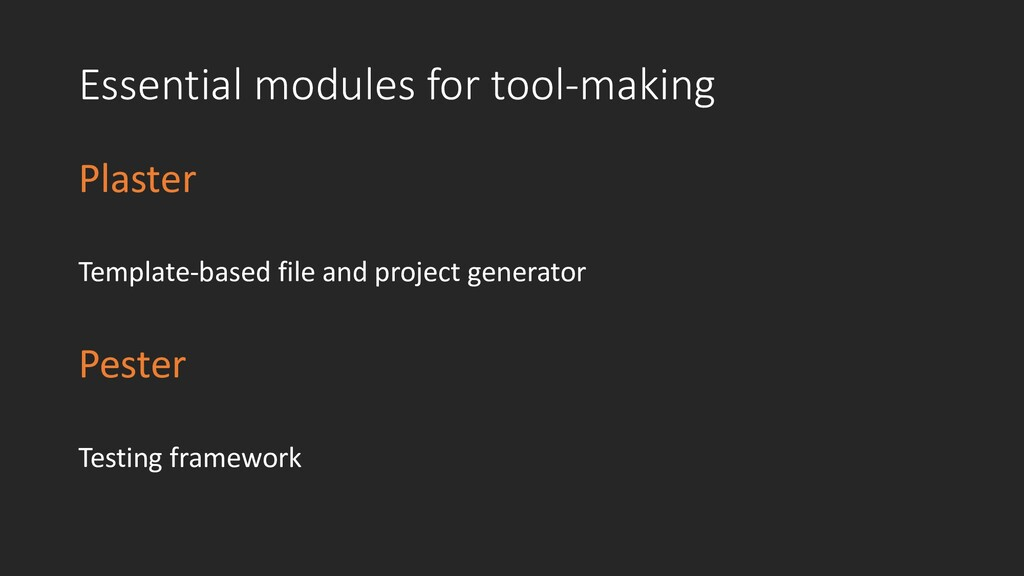 Essential modules for tool-making Plaster Templ...