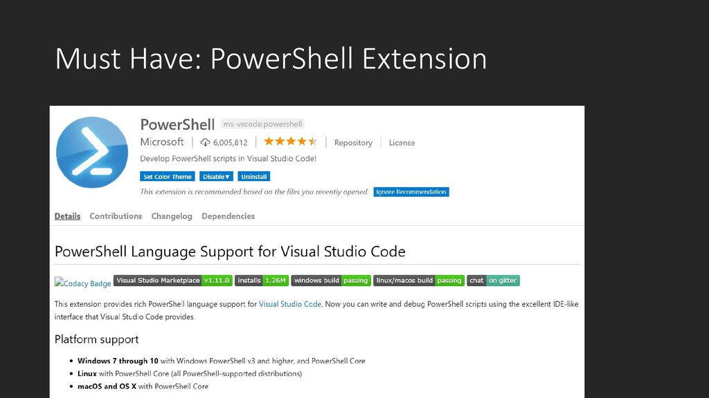 Must Have: PowerShell Extension
