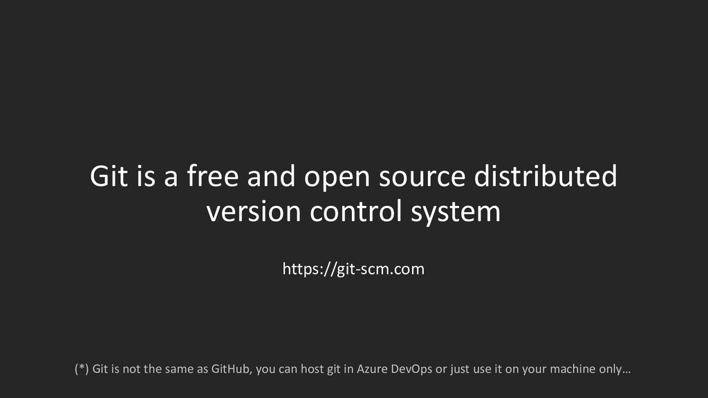 Git is a free and open source distributed versi...