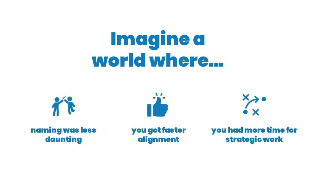 Imagine a world where... you had more time for ...