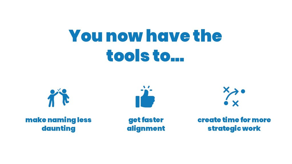 You now have the tools to... create time for mo...