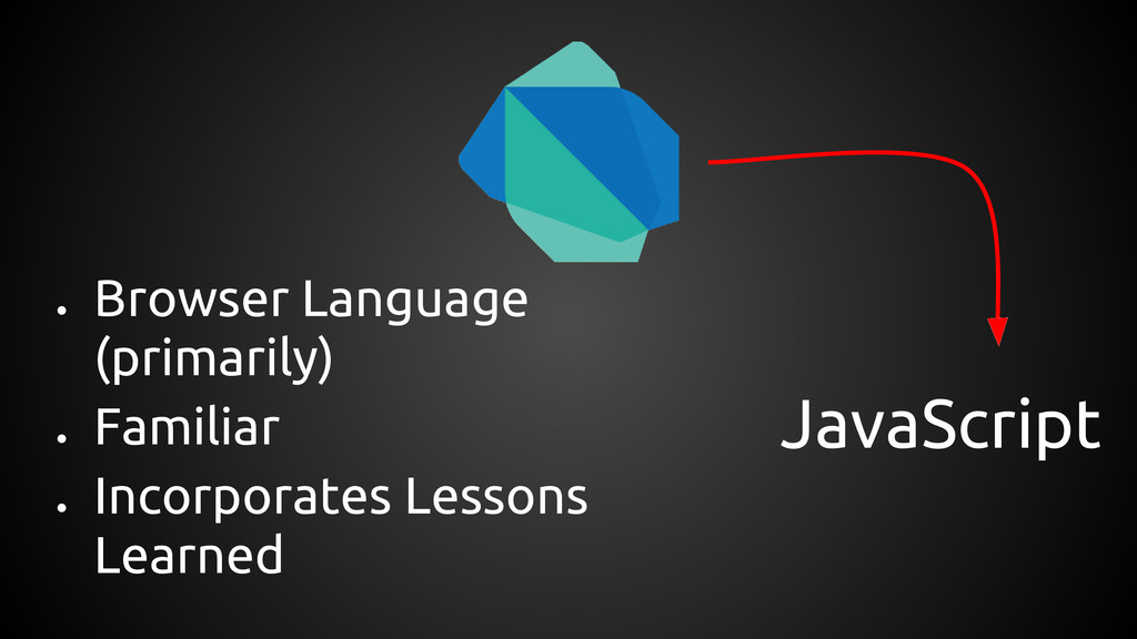 JavaScript ● Browser Language (primarily) ● Fam...