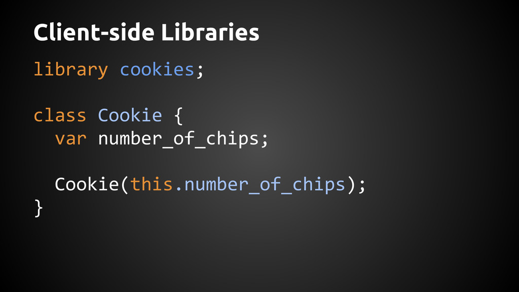 Client-side Libraries library cookies; class Co...
