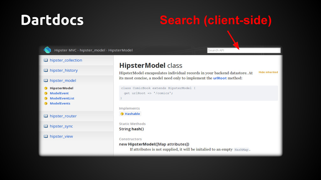 Dartdocs Search (client-side)