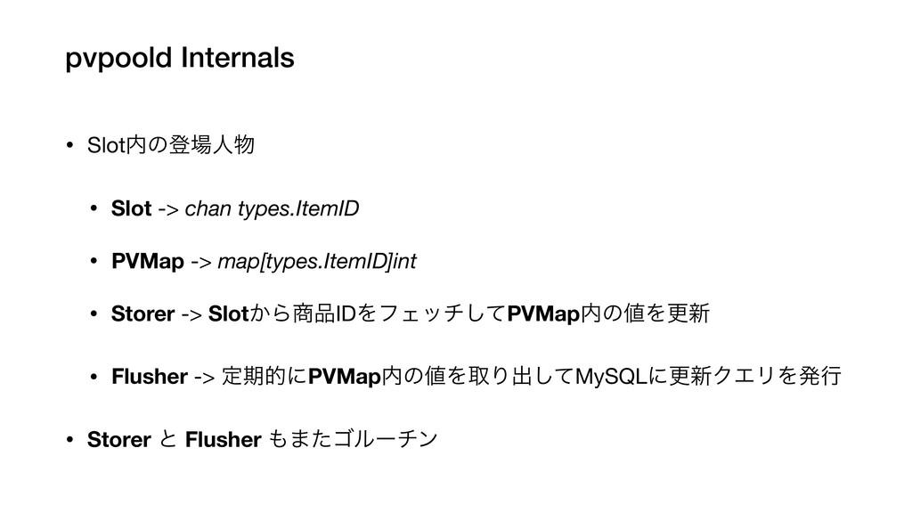 pvpoold Internals • Slotͷొਓ  • Slot -> chan ...