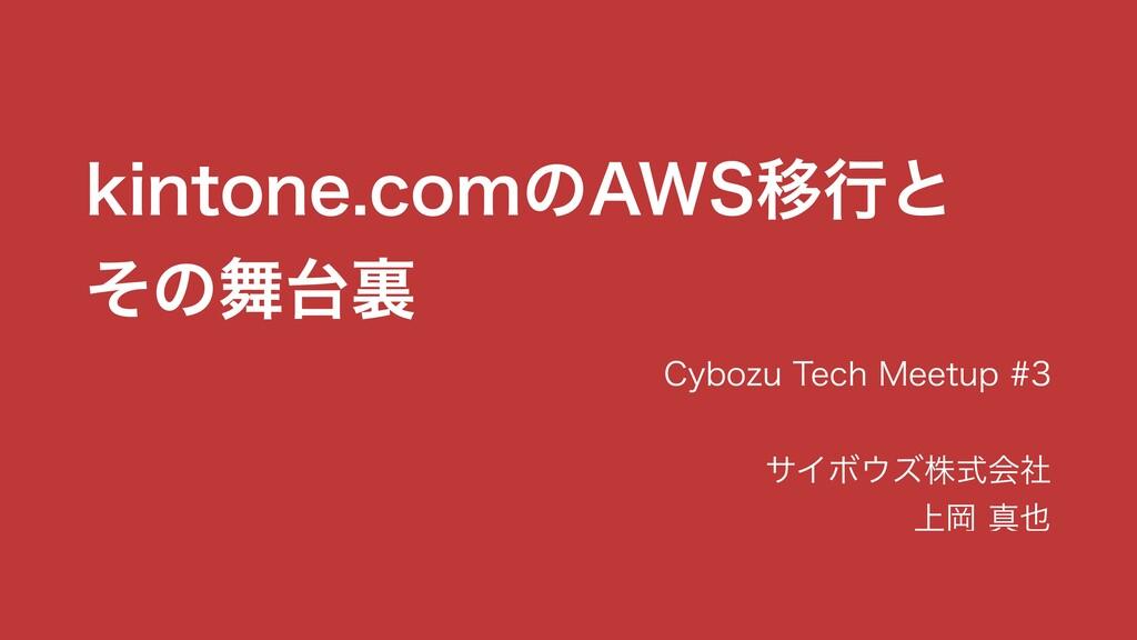 Slide Top: kintone.comのAWS移行とその舞台裏