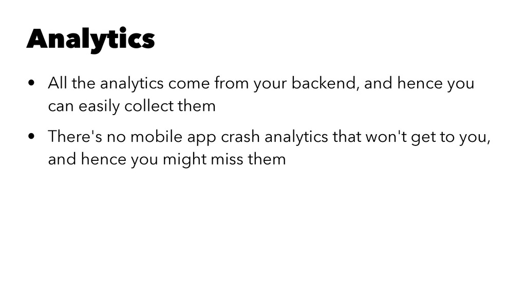 Analytics • All the analytics come from your ba...